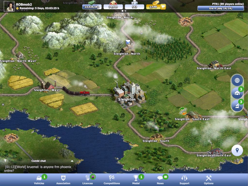 Rail Nation on the iPad
